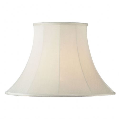 "12"" Cream Round Bell Shade CARRIE-12"